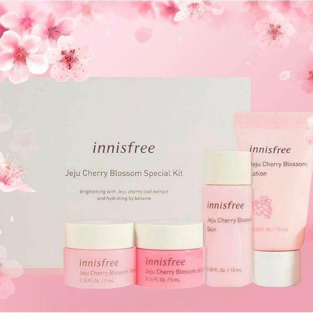 INNISFREE -Nhận tiền mặt 200.000 và Tặng ngay Bộ kit  Innisfree Jeju Cherry Blossom Special trị giá 320.000